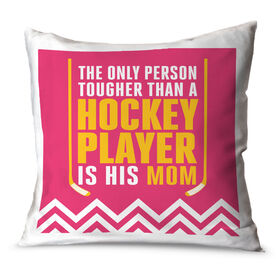 Hockey Throw Pillow Tougher Than A Hockey Player