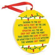 Tennis Round Ceramic Ornament - Jingle All the Way