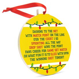 Tennis Round Ceramic Ornament - Jingle All the Way