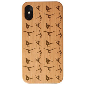 Gymnastics Engraved Wood IPhone® Case - Gymnastics Silhouette