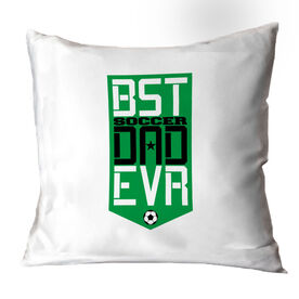 Soccer Throw Pillow - Best Dad Ever Shield