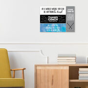 """Swimming 12.5"""" X 4"""" Removable Wall Tile - Thanks Coach (Autograph)"""