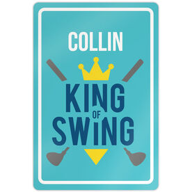 "Golf Aluminum Room Sign (18""x12"") King of Swing"