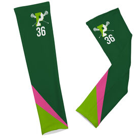 Arm Sleeves - Pentucket Youth Girls Lacrosse Logo with Stripes