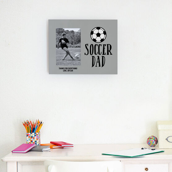 Soccer Photo Frame - Soccer Dad With Ball
