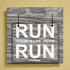 Personalized Run Name Run Wall BibFOLIO® Display