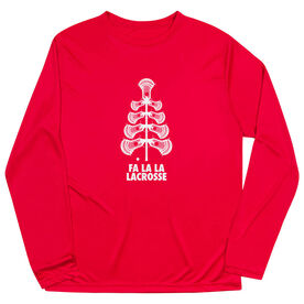 Guys Lacrosse Long Sleeve Performance Tee - Fa La La Tree
