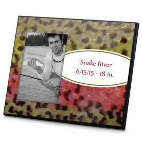 Fly Fishing Photo Frame Rainbow Trout With Label