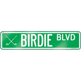 "Golf Aluminum Room Sign Birdie Blvd (4""x18"")"