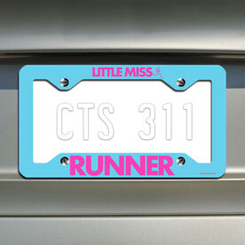 Little Miss Runner License Plate Holder