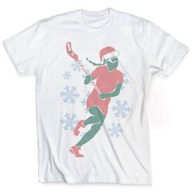 Vintage Girls Lacrosse T-Shirt - Christmas Laxer