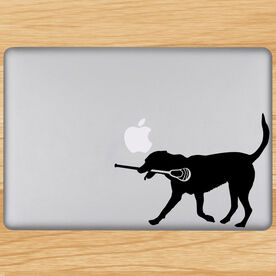 Max The Lax Dog Removable ChalkTalkGraphix Laptop Decal