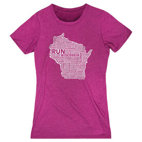 Women's Everyday Runners Tee Wisconsin State Runner