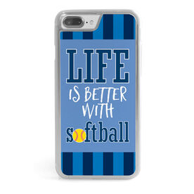 Softball iPhone® Case - Life is Better with Softball