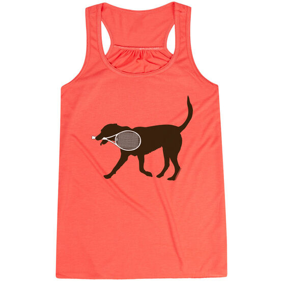 Tennis Flowy Racerback Tank Top - Tanner the Tennis Dog