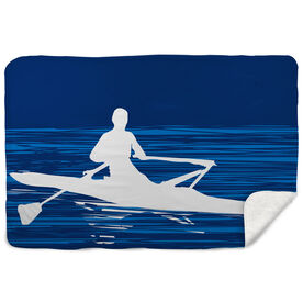 Crew Sherpa Fleece Blanket - Male Rower