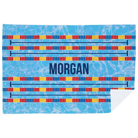 Swimming Premium Blanket - Personalized Swim Lanes