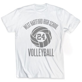 Vintage Volleyball T-Shirt - Personalized Team
