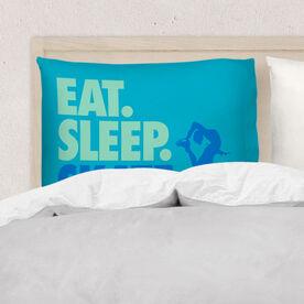 Figure Skating Pillowcase - Eat Sleep Skate