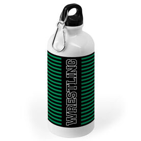Wrestling 20 oz. Stainless Steel Water Bottle - Word With Stripes
