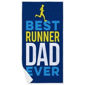 Running Premium Beach Towel - Best Dad Ever