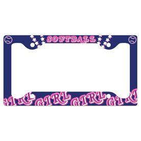 Softball Girl License Plate Holder