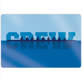 "Crew 18"" X 12"" Aluminum Room Sign - Water Reflection"