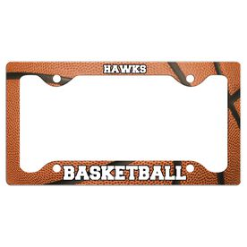 Custom Basketball Team License Plate Holders