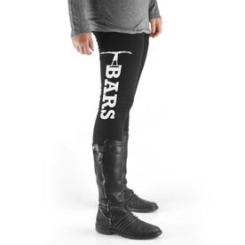 Gymnastics High Print Leggings Bars