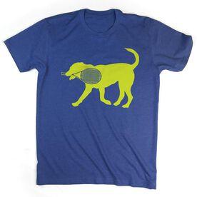 Tennis Tshirt Short Sleeve Dennis The Tennis Dog