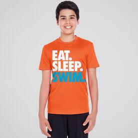 Swimming Short Sleeve Performance Tee - Eat. Sleep. Swim.