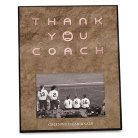 Softball Photo Frame Thank You Coach