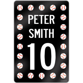 "Baseball Aluminum Room Sign Personalized Baseball Speed Sign (18"" X 12"")"