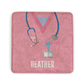 Personalized Stone Coaster - Nurse Scrubs
