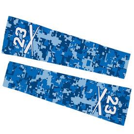 Baseball Printed Arm Sleeves - Digital Camo with Number