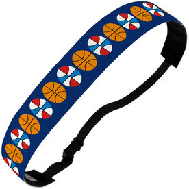 Basketball Julibands No-Slip Headbands - Basketball Stripe Pattern
