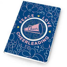 Cheerleading Notebook Peace Love Cheerleading Flowers