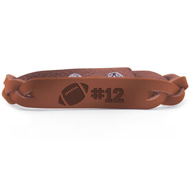 Football Leather Engraved Bracelet Ball with Number