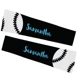 Softball Printed Arm Sleeves - Softball With Text