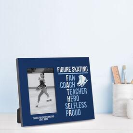 Figure Skating Photo Frame - Figure Skating Father Words
