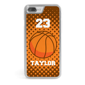 Basketball iPhone® Case - Personalized Basketball with Dots Background