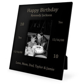 Personalized Engraved Picture Frame - Birthday