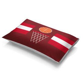 Basketball Pillowcase - Simple Stripe