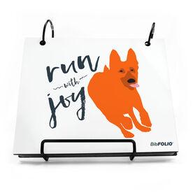 BibFOLIO® Race Bib Album - Run With Joy