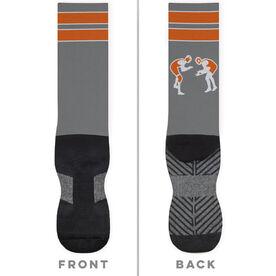 Wrestling Printed Mid-Calf Socks - Ready To Pin
