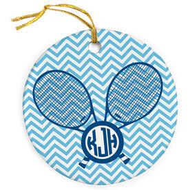 Tennis Porcelain Ornament Personalized Monogram