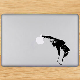 Snowboarding Removable ChalkTalkGraphix Laptop Decal - Snowboarder
