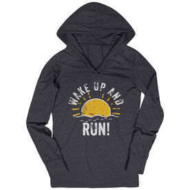 Women's Running Lightweight Performance Hoodie - Wake Up And Run
