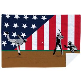 Baseball Premium Blanket - Go for the Home Run Patriotic