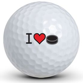 I Heart Hockey Golf Balls